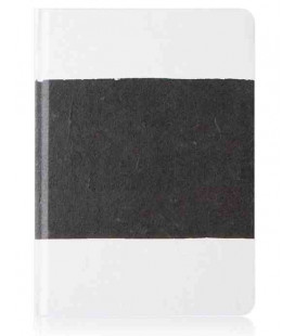 Hanji Notebook: Sumuk (M) Black Brush - Plain Hanji (Cuaderno coreano Hanji- pauta lisa)