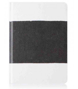 Hanji Notebook: Sumuk (M) Black Brush - Plain Hanji