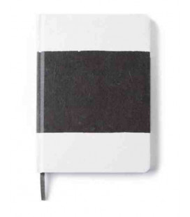 Hanji Notebook: Sumuk (S) Black Brush - Ruled (Cuaderno coreano Hanji- pauta a rayas)