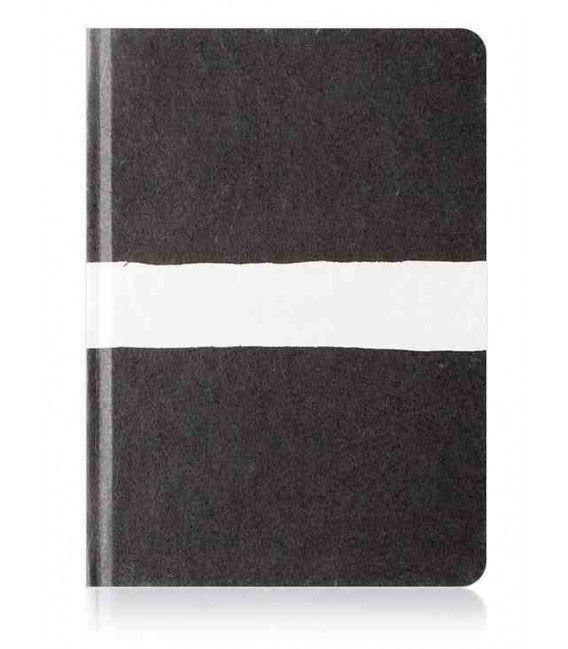 Hanji Notebook: Sumuk (M) White Brush - Ruled (Cuaderno coreano Hanji- pauta a rayas)