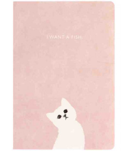 Hanji Notebook: Kitty Pink - Plain Hanji