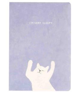 Hanji Notebook: Kitty Purple - Plain Hanji