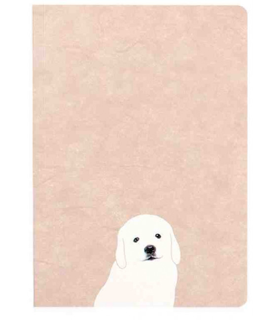 Hanji Notebook: Puppy Retriever - Plain Hanji (Soft Cover)