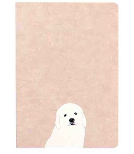 Hanji Notebook: Puppy Retriever - Plain Hanji (Soft Cover)