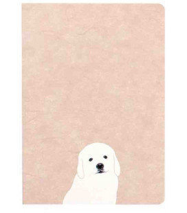 Hanji Notebook: Puppy Retriever - Monthly Planner- Plain Hanji (Soft Cover)