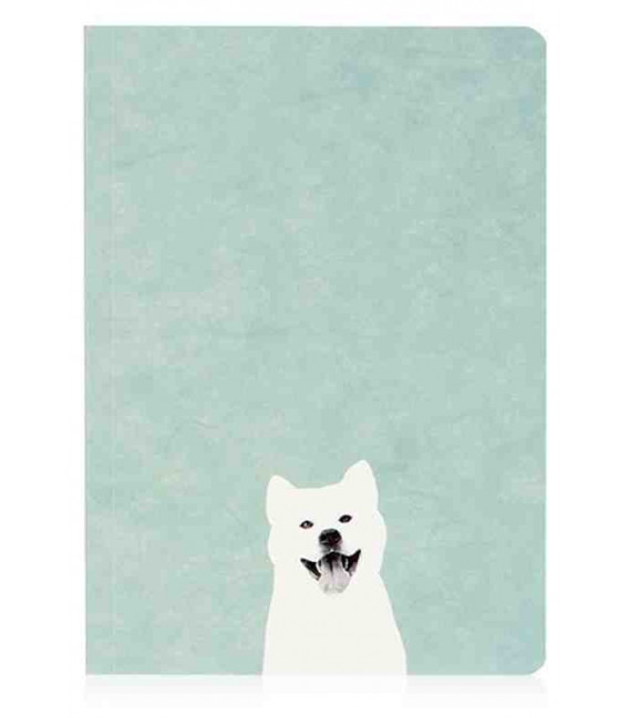 Hanji Notebook: Puppy Shiba - Monthly Planner - Plain Hanji (Soft Cover)