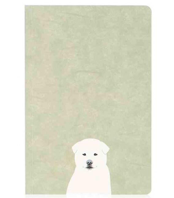Hanji Notebook: Puppy Jindo - Plain Hanji (Soft Cover)