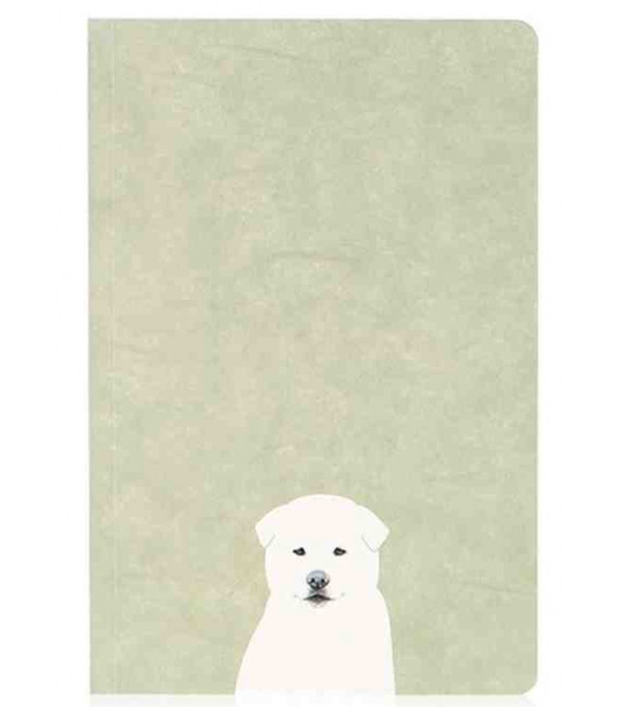 Hanji Notebook: Puppy Jindo - Plain Hanji (Soft Cover)