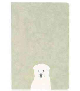 Hanji Notebook: Puppy Jindo - Plain Hanji (Soft Cover) - koreanisches Hanji-Notizbuch - unliniert