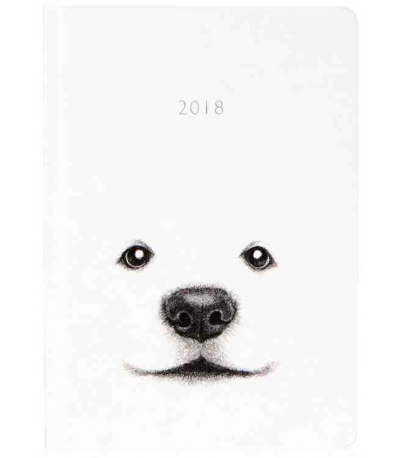 Hanji Notebook: Puppy Jindo - Plain Hanji (Cuaderno coreano Hanji- pauta lisa- tapa dura)