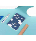 Hanji Notebook: Minwha Flying (blue) - Hanji plain (Koreanisches Hanji-Notizbuch blau - unliniert)