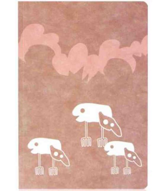 Hanji Notebook: Minwha Fish-Alien (Brown) - Hanji plain