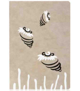 Hanji Notebook: Minwha Bee-Shell (beige)- Hanji plain