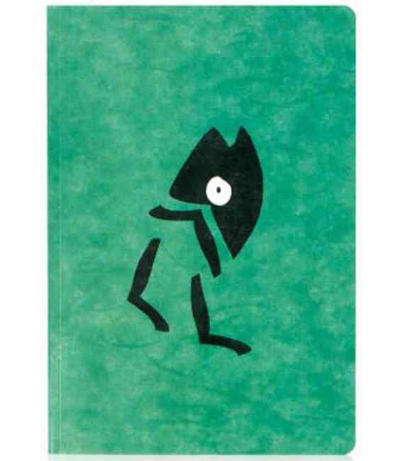 Hanji Notebook: Minwha Walking (green)- Hanji plain - Hanji Notizbuch-grün-unliniert