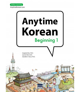 Anytime Korean Beginning 1 (Libro + Audio + Suscripción de 6 meses de Online Learning)
