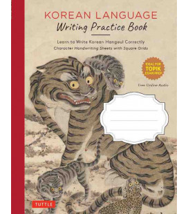 Korean Language Writing Practice Book - Con download gratuito degli audio