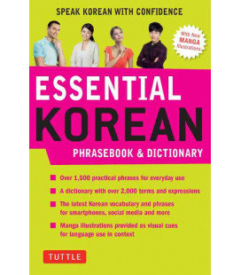 Essential Korean - Korean Prasebook and Dictionary - With new Manga illustrations