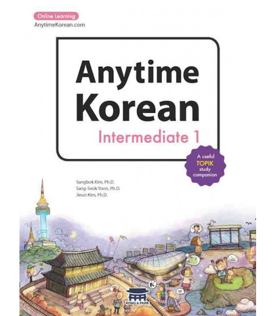 Anytime Korean Intermediate 1 (Book + Audio + 6 months subscription to Online Learning)
