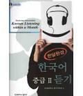 Mastering Intermediate Korean Listening Within a Month Vol. 2 (mit 3 CD)
