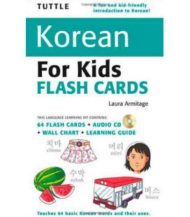 Tuttle Korean for Kids Flash Cards Kit (64 flashcards + CD+ Wall chart + Learning guide)