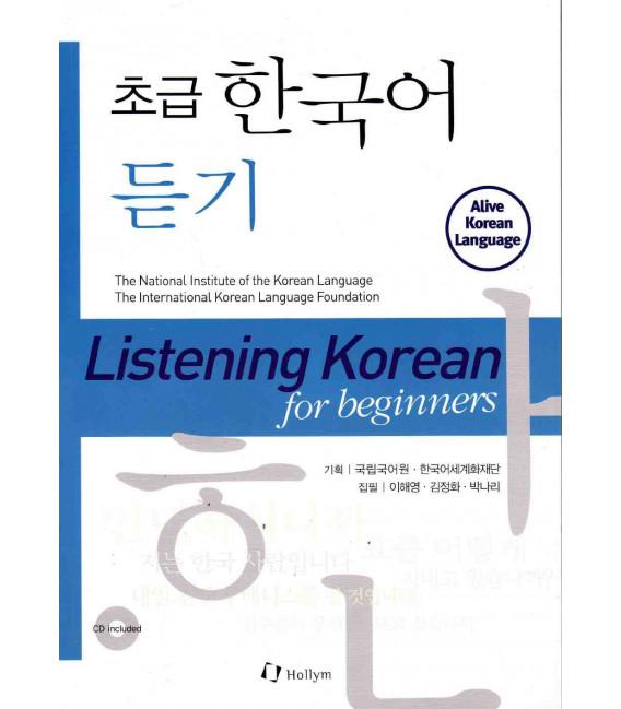 Listening Korean for beginners (Book + 2 audio CD)