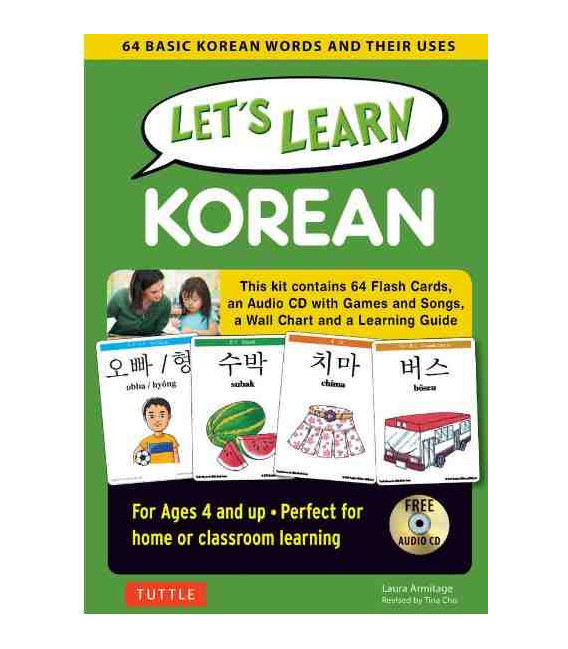 Let's Learn Korean Kit-64 Basic Korean Words and Their Uses- (Ages 4 and up)