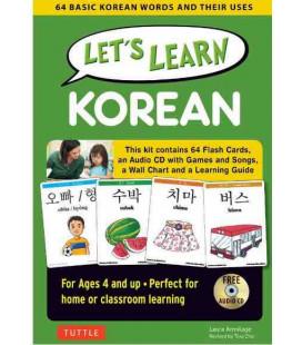 Let's Learn Korean Kit-64 Basic Korean Words and Their Uses- (4-jährige und älter)