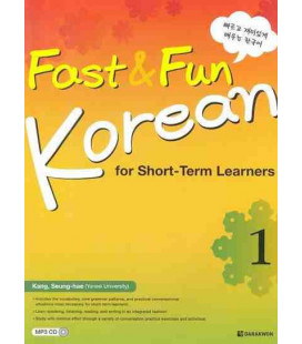 Fast & Fun Korean for Short-Term Learners 1- CD incluso MP3