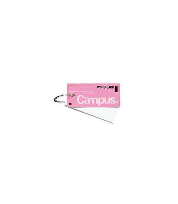 Mini schede didattiche per vocabolario - Campus Kokuyo (85 fogli- Copertina rosa)