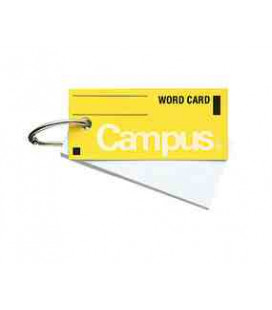 Mini tarjetas de vocabulario - Campus Kokuyo (85 hojas-Tapa color amarillo)