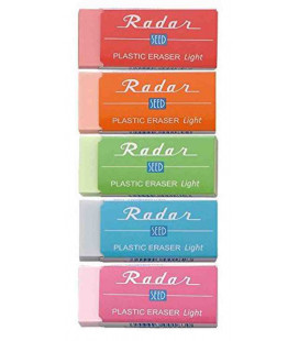 Seed Radar Light 100 - Lot de 5 gommes couleurs assorties (importation japonaise)